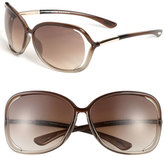 Tom Ford Women's 'Raquel' 63Mm Oversized Open Side Sunglasses - Transparent Bronze