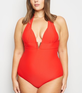 New Look Curves 'Lift & Shape' V Front Swimsuit