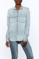 Olivaceous Denim Button Down Top