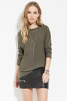 Forever 21 Ribbed-Trim Dolman Sweater
