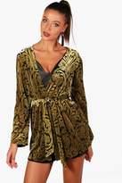 boohoo Tall Shannon Devore Kimono
