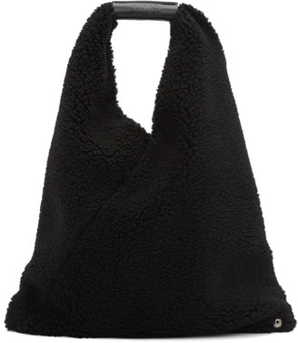 MM6 MAISON MARGIELA Black Small Teddy Triangle Tote