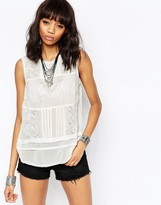 Brave Soul Tank With Embroidered Detail