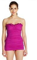 Kenneth Cole New York Women's Sassyfras Bandeau Swim Dress