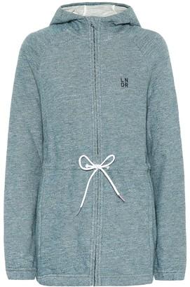 LNDR Astroid Zip cotton-jersey hoodie