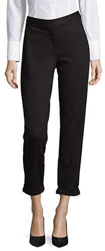 Halston H High-Rise Cropped Pants