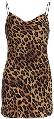 Alice + Olivia Harmony Leopard Slip Dress