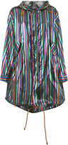 Michel Klein metallic stripe parka - women - Lurex/Nylon - 40