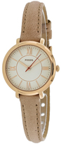 Fossil Jacqueline ES3802 Women's Round Beige Leather Watch