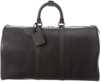 Louis Vuitton Black Epi Leather Keepall 45