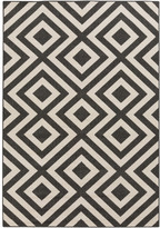 DwellStudio Alfresco Hand-Woven Black / Beige Outdoor Area Rug Rug