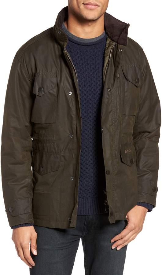 Barbour 'Sapper' Regular Fit Waterproof Waxed Cotton Jacket
