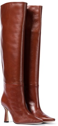 Wandler Exclusive to Mytheresa Lina leather knee-high boots