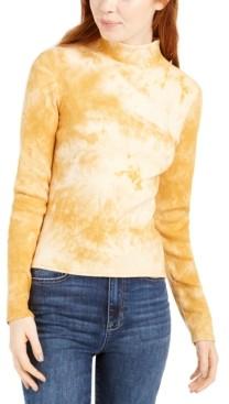 Planet Gold Juniors' Tie-Dye Mock Neck Top