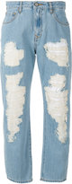 Vivienne Westwood cropped distressed jeans - women - Cotton - 26
