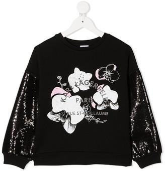 Karl Lagerfeld Paris Sequinned Sleeve Sweatshirt