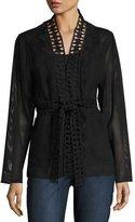 Elie Tahari Maliah Textured Topper Jacket, Black
