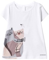 Burberry White Cats in Scarves Print Tee