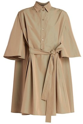Givenchy Short-Sleeve Belted Shirtdress