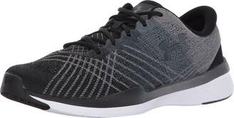 Under Armour Men's Micro G Pursuit Running Shoe Sneaker Black (001)/Steel 8