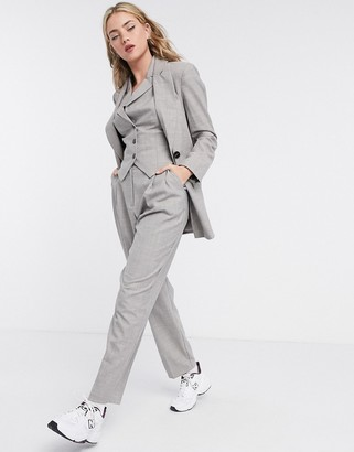 ASOS DESIGN mansy 3 piece suit pants in taupe texture