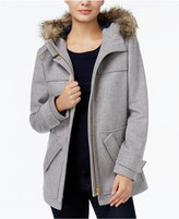 Tommy Hilfiger Kate Faux-Fur-Trim Coat, Only at Macy's