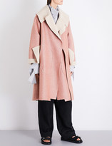 Daniel Gregory Natale Oversized herringbone wool coat