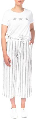 Jump Stripe Tie Waist Linen Pant