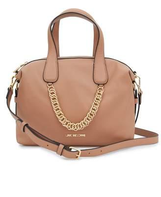 Love Moschino Accessories Chain Detail Bowling Bag Colour: BLACK, Size