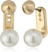 BCBGeneration Pearl Cone Jacket Earrings
