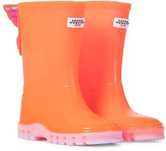 Sophia Webster Mini Butterfly rubber rain boots