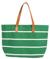 Cathy's Concepts Monogram Stripe Tote - Green