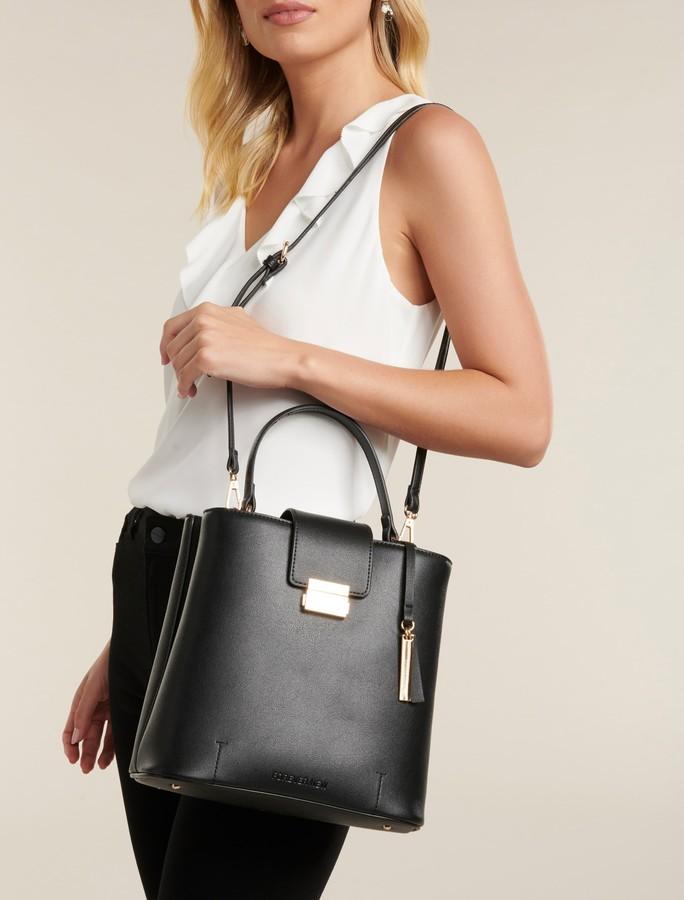 Forever New Steph Structured Bucket Bag - Black - 00