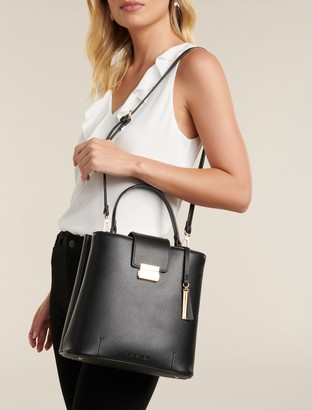 Forever New Steph Structured Bucket Bag - Black - 00