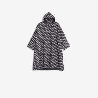 Balenciaga New Opera Coat in grey Monogram printed polyester
