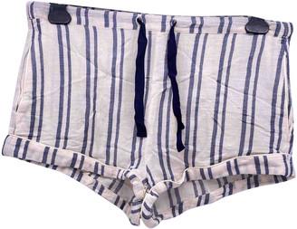 Solid & Striped Ecru Cotton Shorts