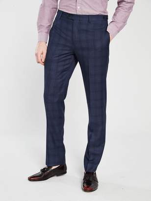 Skopes Mosley Check Suit Trouser - Blue