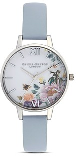 Olivia Burton Enchanted Garden Chalk Blue Watch, 34mm