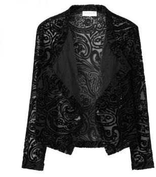 Rosemunde Evening Style Black Burnout Cardigan - UK 10 - Black