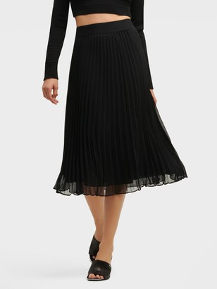 DKNY Pull-on Pleated Maxi Skirt