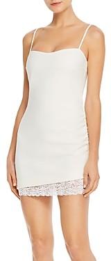 LIKELY Mezza Lace Hem Mini Dress
