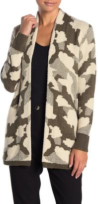 Susina Jacquard Open Front Cardigan (Regular & Petite)