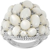 Judith Ripka Sterling Mother-of-Pearl Cluster Ring