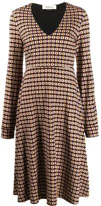 Mulberry Jasmine geometric-print dress