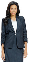Preston & York Giada Ruched Sleeve Blazer Jacket