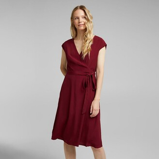 Esprit Wrapover Mini Dress with Short Sleeves