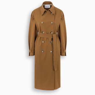 Harris Wharf London Tobacco oversize double-breasted trench coat