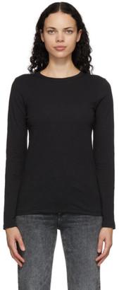 Rag & Bone Black The Slub Long Sleeve T-Shirt