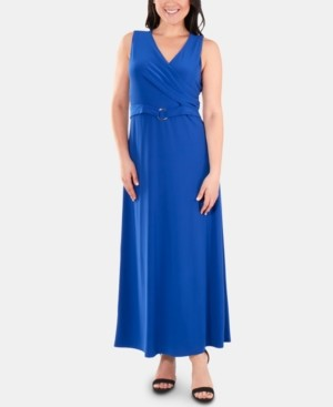 NY Collection Belted Wrap Dress