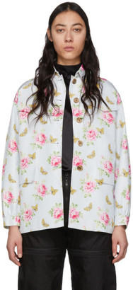 Prada Blue Flower Print Jacket